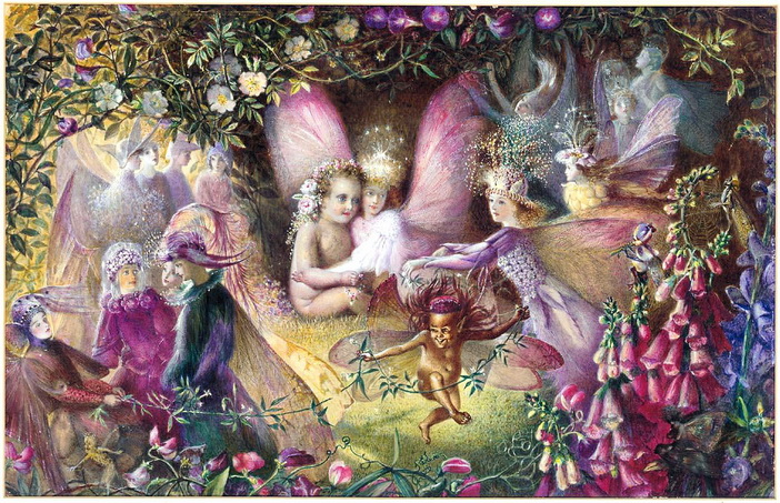John Anster Fitzgerald, Titania and the Changeling A Midsummer Night's Dream