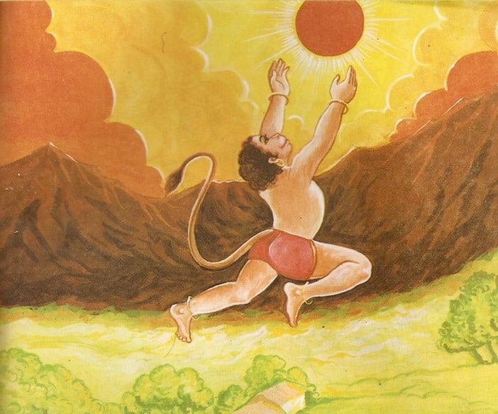 5-Young-Hanuman-and-Lord-Surya-sun