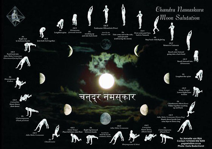 Pozdrav Mjesecu - Slijed položaja koji vas pozivaju da njegujete mjesečevu opuštajuću energiju