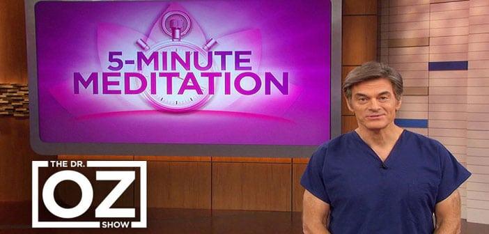 Dr Mehmet Oz: OVA meditacija od 5 minuta čini čuda za vaš um i tijelo!