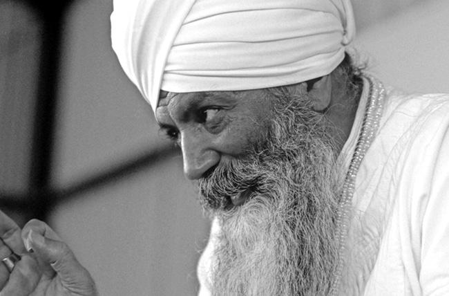 Portrait of Yogi Bhajan at Summer Solstice 1984 PR 1