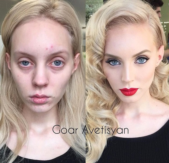 Never Trust A Woman In Make Up The Reason Is These 28 Unbelievable Photos. 2