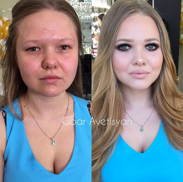 Never Trust A Woman In Make Up The Reason Is These 28 Unbelievable Photos.