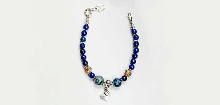 Narukvica Dodir nježnosti - Lapis lazuli, krizokola