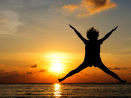 freedom concept with silhouette young teenager happy and jump 1357 286