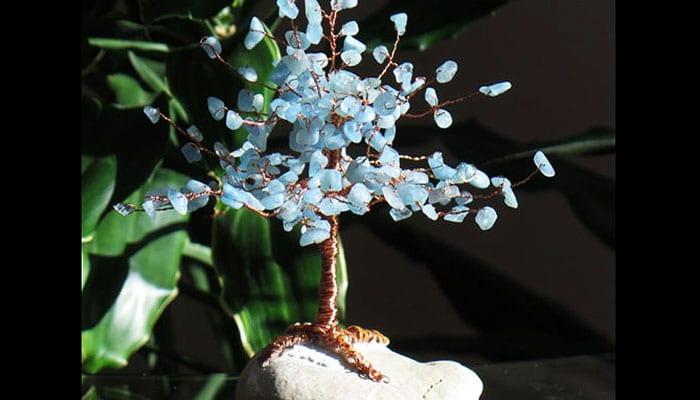 Drvo sreće Akvamarin na morskom kamenu