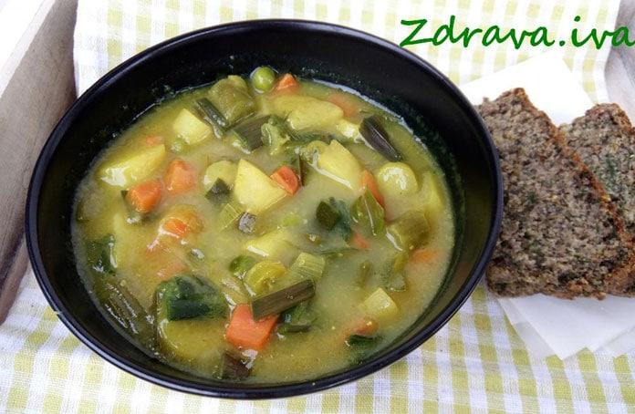 Super ljetni ručak - Lagano povrtno varivo i kruh sa začinskim biljem