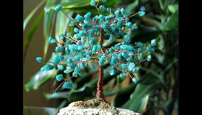 Drvo sreće Amazonit na morskom kamenu