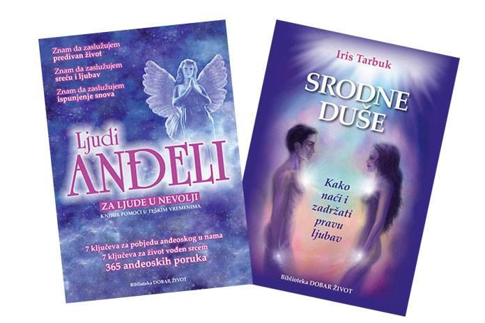 """AKCIJA: Set knjiga - """"Srodne duše"""" i """"Ljudi Anđeli""""+365 anđeoskih poruka za svaki dan"""