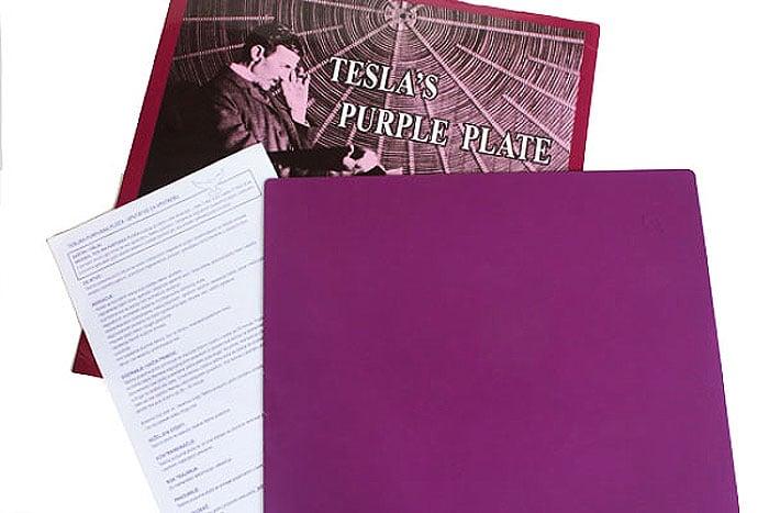 Original Teslina ionizirana purpurna ploča VELIKA  –