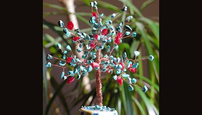 Šareno drvo sreće od Tirkiza i Koralja