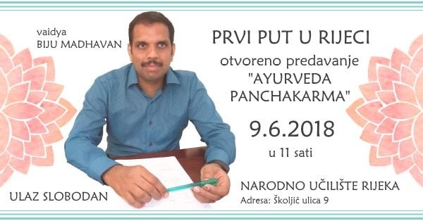 09.06. Rijeka - Otvoreno predavanje dr. Biju Madhavana