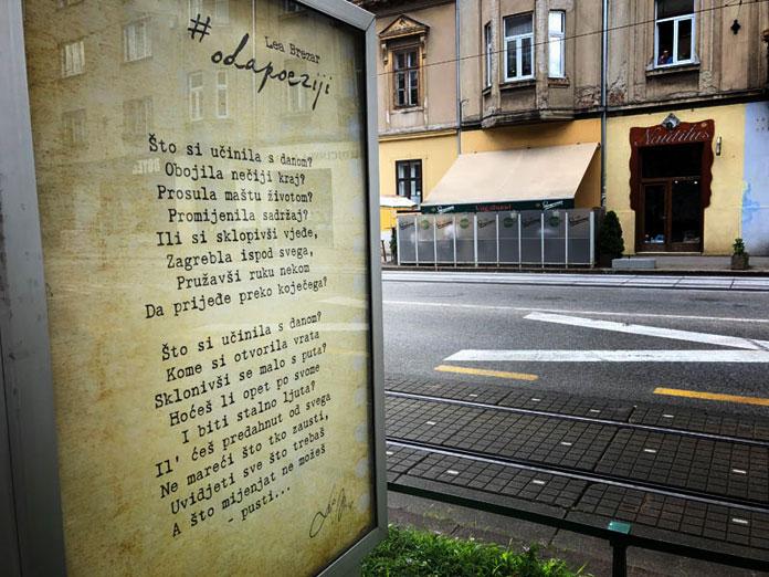 KULTURNA INSTALACIJA #odapoeziji - treću godinu zaredom na City lights plakatima