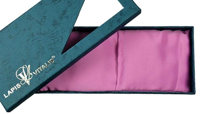 Iscjeljujući jastučić za oči od svile, ametista i amaranta