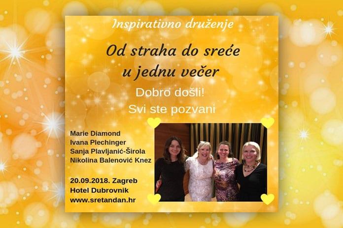 20.09. Zagreb - Inspirativno druženje: Od straha do sreće u jednu večer