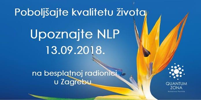 13.09. Zagreb - Upoznajte NLP: moćnu metodologiju osobnog razvoja i uspjeha na besplatnoj radionici
