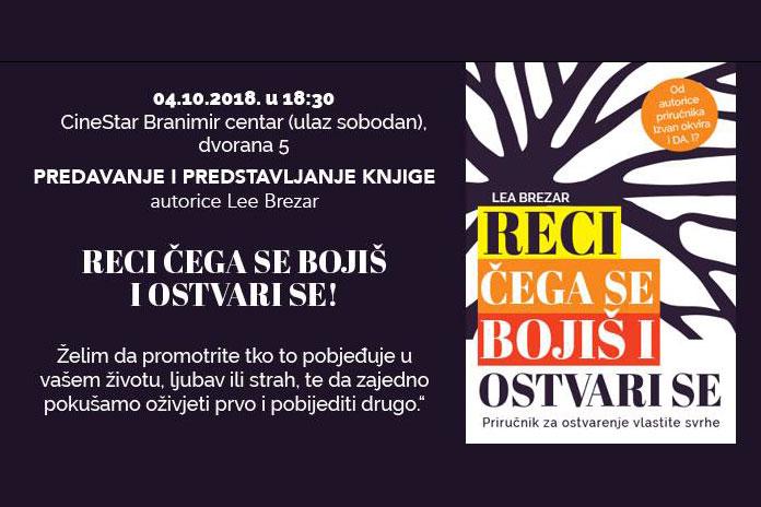 "04.10. Zagreb - Predavanje ""Reci čega se bojiš i ostvari se"""