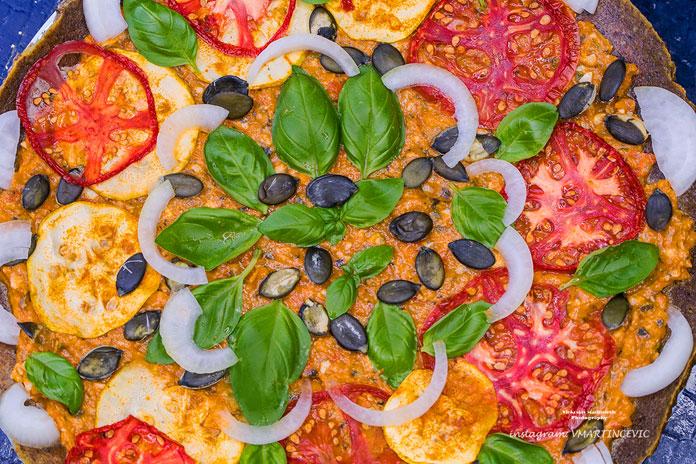 VEGANSKA RAW PIZZA - Pizza bogata nutrijentima i životnom energijom!