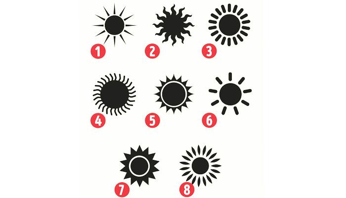 TEST: Odaberite jedno sunce i otkrijte što ono otkriva o vašoj osobnosti!