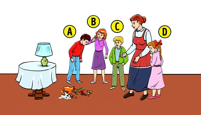 Zagonetka: Tko je razbio vazu? Vaš izbor će reći puno o vašoj osobnosti!