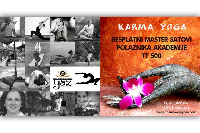 Besplatni master satovi Yoga Akademije Zagreb
