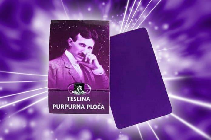 Teslina purpurna ploča prima i emitira kožmičku energiju koja ozdravljuje