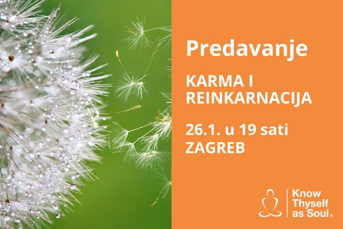 26.01. Zagreb - Predavanje: Karma i reinkarnacija