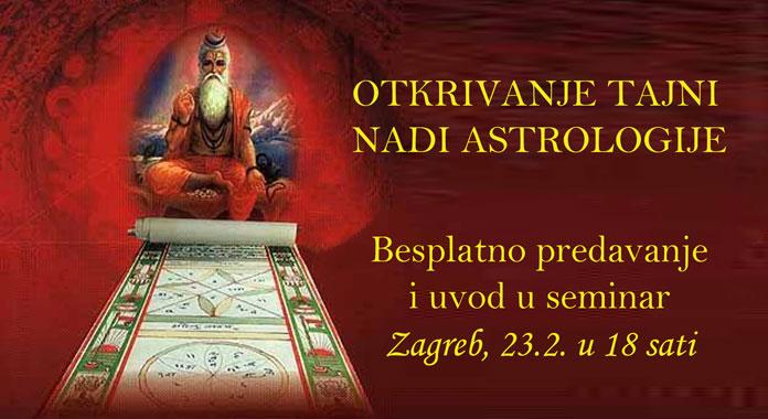 23.02. Zagreb - Brighu Nandi Nadi – čudesna astrologija vedskih mudraca (predavanje i tečaj)