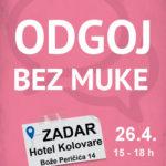 Zadar Odgoj bez muke plakat