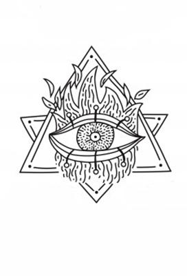 magic emblems hand drawn set 1284 22336