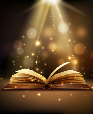 open book with mystic bright light 1284 12772