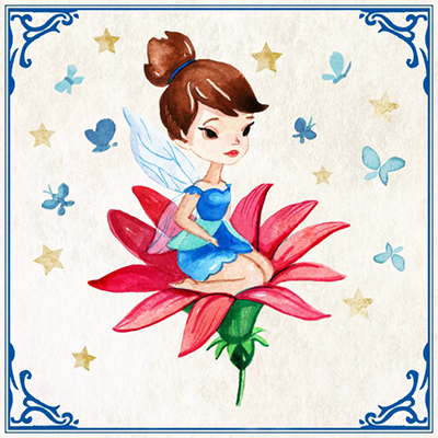 hand painted pretty fairy red flower 23 2147542164
