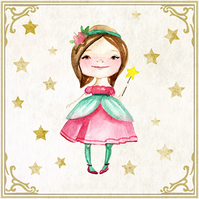 watercolor lovely fairy with wand 23 2147540312
