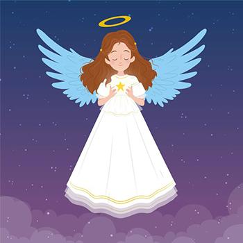hand drawn christmas angel 23 2148714176 1