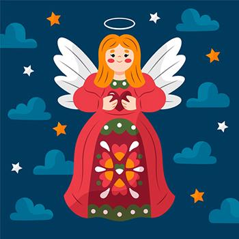 hand drawn christmas angel 52683 51304 1