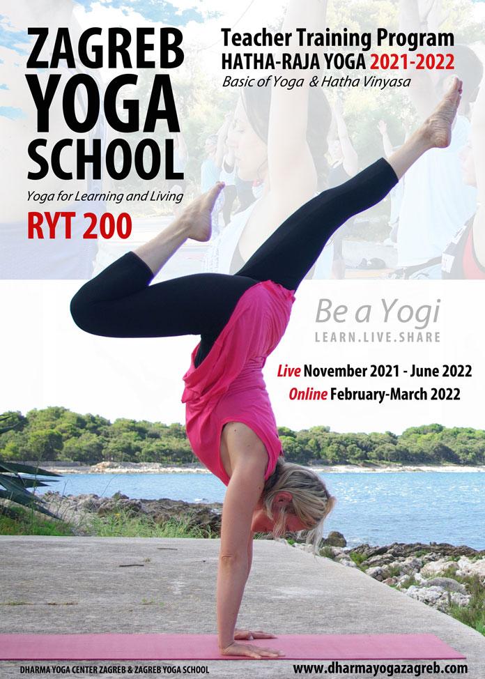 RYT 200 Teacher Training Zagreb Yoga School HATHA RAJA YOGA Skola Yoge Zagreb napredna obuka TT 200 B copy